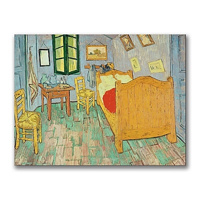 Trademark Fine Art Vincent Van Gogh 'Van Gogh's Bedroom at Arles' Canvas Art 24x32 Inches