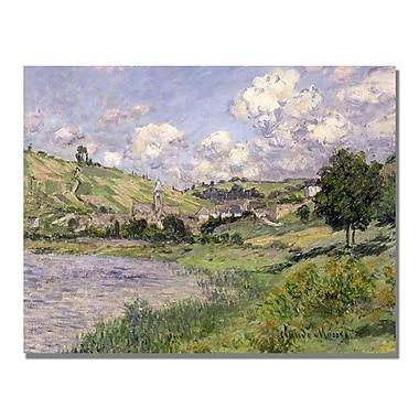 Trademark Fine Art Claude Monet 'Landscape Vetheuil 1879' Canvas Art