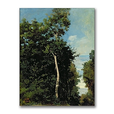 Trademark Fine Art Jean Baptiste Corot 'The Wood on the Cote de Grace' Canvas