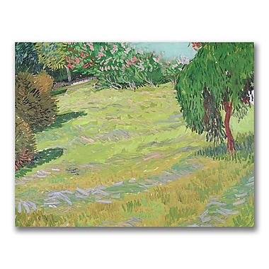Trademark Fine Art Vincent Van Gogh 'Field in Sunlight' Canvas Art 24x32 Inches