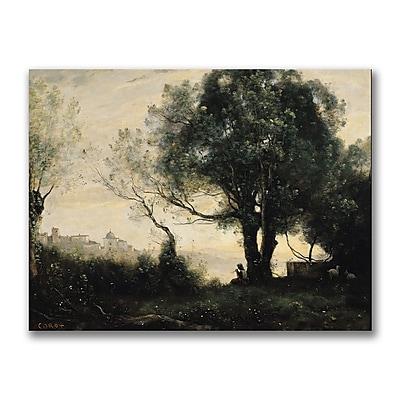 Trademark Fine Art Jean Baptiste Corot 'Souvenir of Castel Gandolfo' Canvas