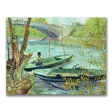 Trademark Fine Art Vincent Van Gogh 'Fishing in the Spring' Canvas Art