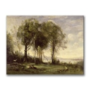 Trademark Fine Art Jean Baptiste Corot 'The Goatherds of the Castle' Canvas