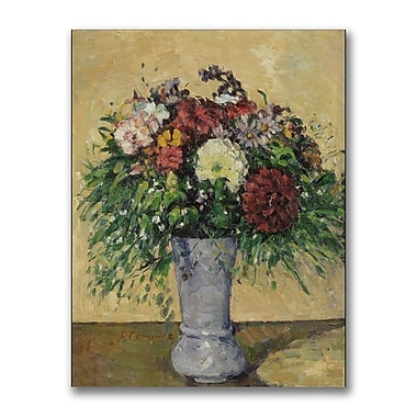 Trademark Fine Art Paul Cezanne 'Bouquet of Flowers in a Vase' Canvas Art 18x24 Inches