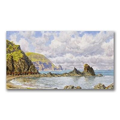 Trademark Fine Art John Brett 'Forest Cove Cardigan Bay' Canvas Art 12x24 Inches