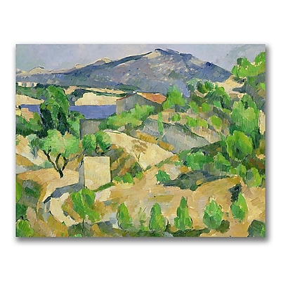 Trademark Fine Art Paul Cezanne 'Mountains in Provence' Canvas Art 18x24 Inches
