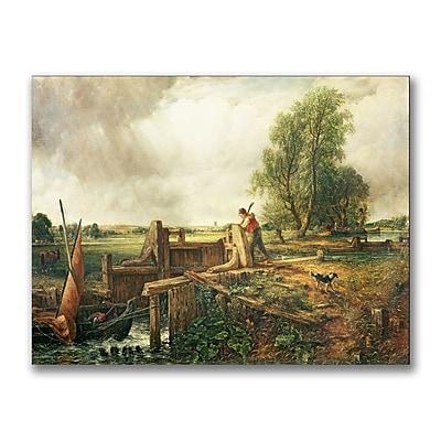 Trademark Fine Art John Constable 'A Passing a Lock' Canvas Art