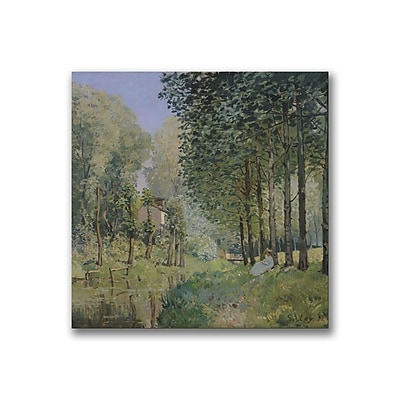 Trademark Fine Art Alfred Sisley 'The Rest by the Stream' Canvas Art