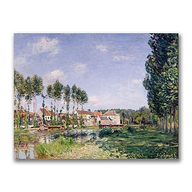 Trademark Fine Art Alfred Sisley 'Banks of the Loing Moret' Canvas Art