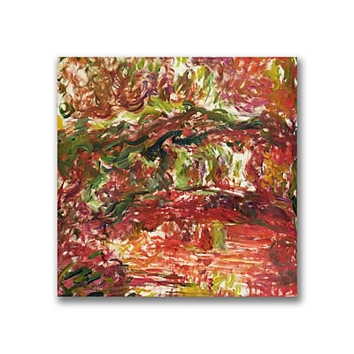Trademark Fine Art Claude Monet 'The Japanese Bridge at Giverny II' Canvas Art 14x14 Inches