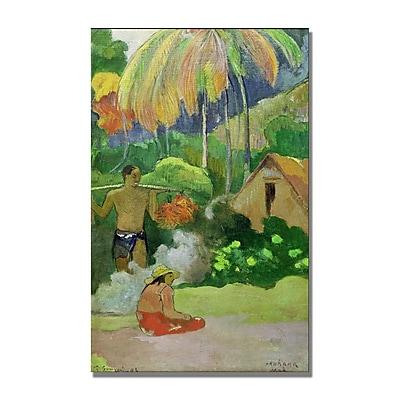 Trademark Fine Art Paul Gauguin 'Landscape in Tahiti' Canvas Art 14x24 Inches