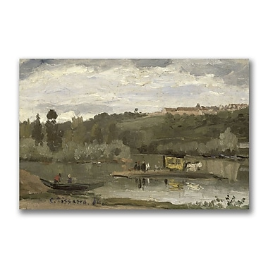 Trademark Fine Art Camille Pissaro Ferry at Verenne-Saint Hilaire' Canvas Art