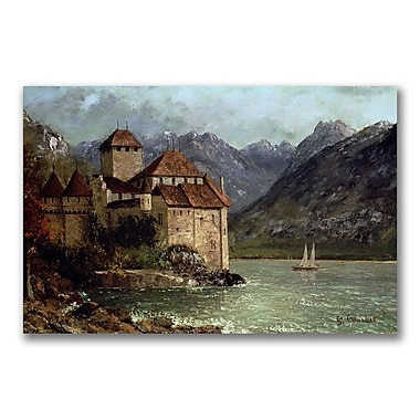 Trademark Fine Art Gustave Courbet 'The Chateau de Chillon' Canvas Art