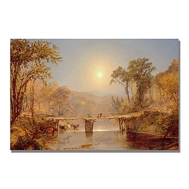 Trademark Fine Art Jasper Cropsey 'Indian Summer on the Delaware' Canvas Art 22x32 Inches