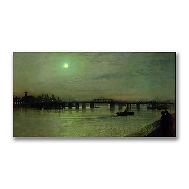 Trademark Fine Art John Grimshaw 'Battersea Bridge' Canvas Art