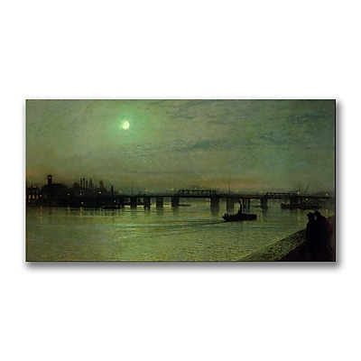 Trademark Fine Art John Grimshaw 'Battersea Bridge' Canvas Art 12x24 Inches