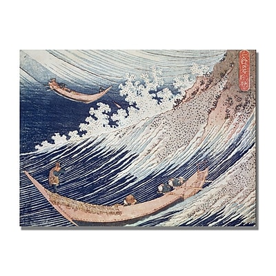 Trademark Fine Art Katsushika Hokusai 'Two Small Fishing Boats' Canvas Art