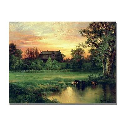 Trademark Fine Art Thomas Moran 'East Hampton Long Island' Canvas Art