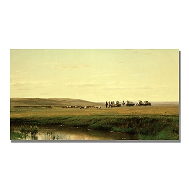 Trademark Fine Art Thomas Ehittredge 'A Wagon Train on the Plain' Canvas Art
