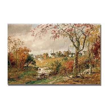 Trademark Fine Art Jasper Cropsey 'Autumn Landscape' Canvas Art