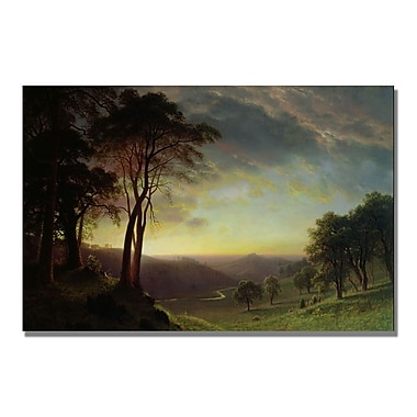 Trademark Fine Art Albert Biersdant 'The Sacramento River' Canvas Art 22x32 Inches