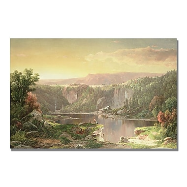 Trademark Fine Art William Sonntag 'Mountain Lake near Piedmont' Canvas Art 30x47 Inches