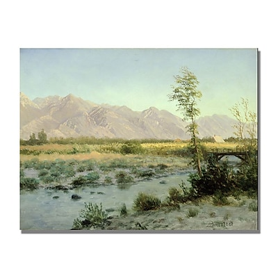 Trademark Fine Art Albert Biersdant 'Prairie Landscape' Canvas Art