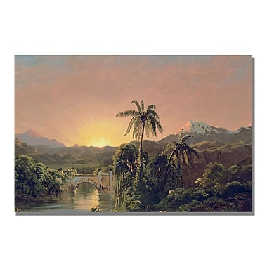 Trademark Fine Art Fredric Church 'Sunset in Equador' Canvas Art 22x32 Inches