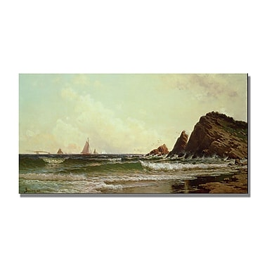 Trademark Fine Art Alfred Bricher 'Cliffs at Cape Elizabeth' Canvas Art 16x32 Inches