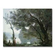 Trademark Fine Art Jean Baptiste Corot 'Souvenir of Montefontaine' Canvas.