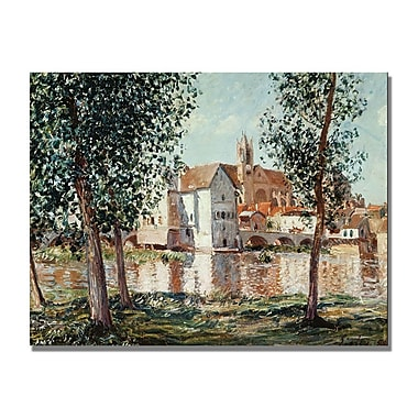 Trademark Fine Art Alfred Sisley 'The Loing at Moret' Canvas Art