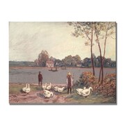 Trademark Fine Art Alfred Sisley 'On the Banks of the Loing' Canvas Art