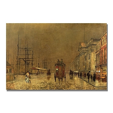Trademark Fine Art John Grimshaw 'A Liverpool Street' Canvas Art 22x32 Inches