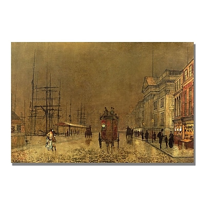 Trademark Fine Art John Grimshaw 'A Liverpool Street' Canvas Art 16x24 Inches