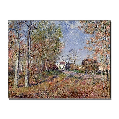 Trademark Fine Art Alfred Sisley 'A Corner of the Woods at Sablons' Canvas Art