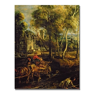 Trademark Fine Art Peter Rubens 'An Autumn Landscape' Canvas Art 18x24 Inches