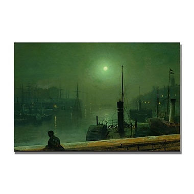 Trademark Fine Art John Grimshaw 'On the Clyde' Glasgow' Canvas Art 22x32 Inches