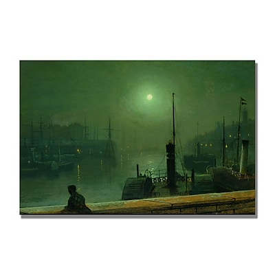 Trademark Fine Art John Grimshaw 'On the Clyde' Glasgow' Canvas Art 16x24 Inches