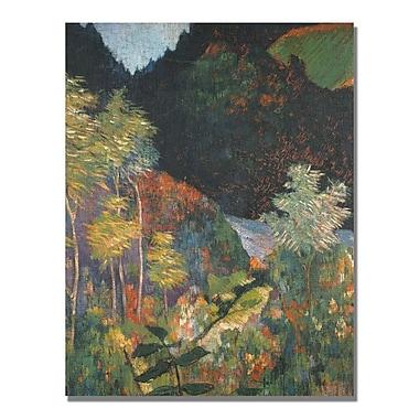 Trademark Fine Art Paul Gauguin 'Landscape' Canvas Art 35x47 Inches