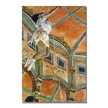 Trademark Fine Art Edgar Degas 'Miss la la at The Cirque Fernando' Canvas Art