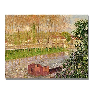 Trademark Fine Art Camille Pissaro 'Sunset at Moret sur Loing' Canvas Art