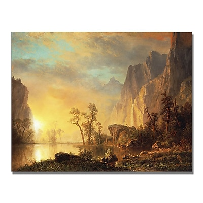 Trademark Fine Art Albert Biersdant 'Sunset in the Rockies' Canvas Art 35x47 Inches