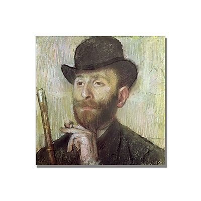 Trademark Fine Art Edgar Degas 'Zachary Zakarian' Canvas Art 14x14 Inches
