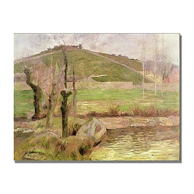 Trademark Fine Art Paul Gauguin 'Landscape near Pont Aven' Canvas Art 35x47 Inches