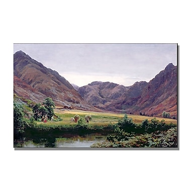 Trademark Fine Art David Farquharson 'Haydays' Canvas Art 14x24 Inches