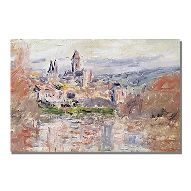 Trademark Fine Art Claude Monet 'The Village of Vetheuil' Canvas Art