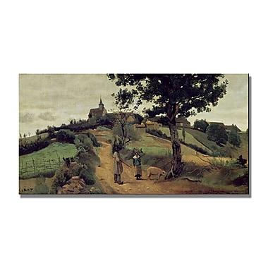 Trademark Fine Art Jean Baptiste Corot 'Saint Andre en Morvan' Canvas Art
