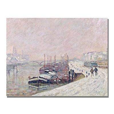 Trademark Fine Art Jean Baptiste Corot 'Snow in Rouen' Canvas