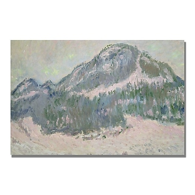 Trademark Fine Art Claude Monet 'Mount Kolsaas Norway' Canvas Art