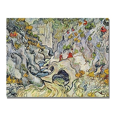 Trademark Fine Art Vincent Van Gogh 'The Ravine of the Peyroulets' Canvas Art